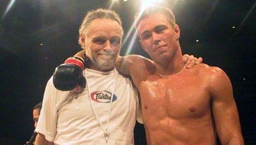 Jake Shields, right, and his father worked together. Jack was his son's manager before he died.