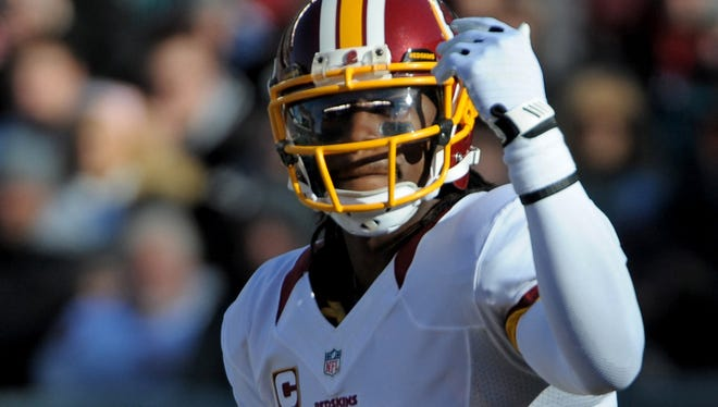 Robert Griffin III returned to the lineup Sunday after sitting out last week with an injury.