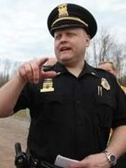 Webster Police Lt. Mike Chiapperini was one of two volunteer firefighters slain Monday. Chiapperini , seen here in April 2011, was also the police department's public information officer.