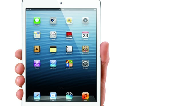 A wealth of handy and entertaining new apps for smartphone and tablets made a mark in 2012. Shown is Apple's iPad Mini.