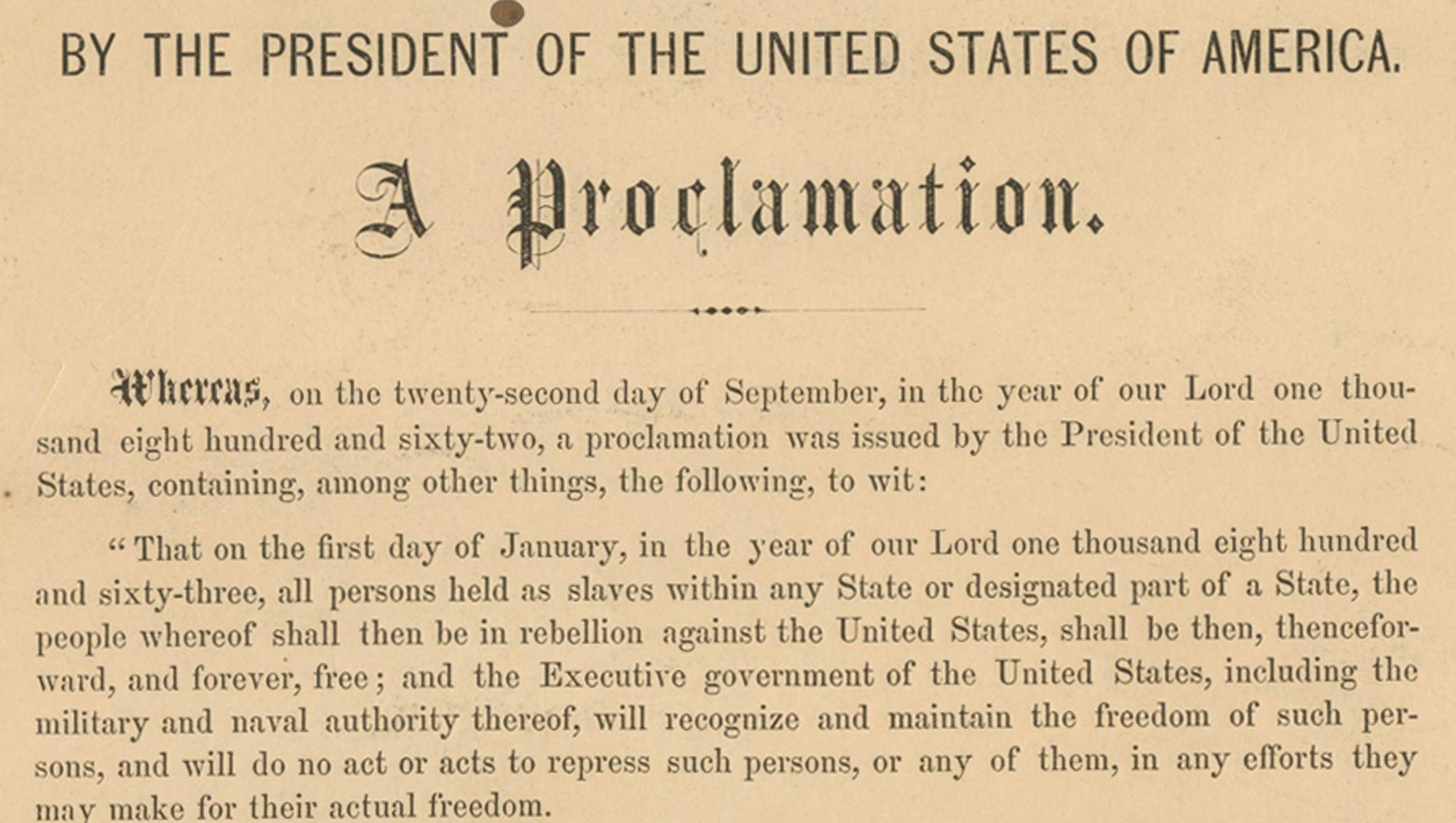 emancipation proclamation meaning