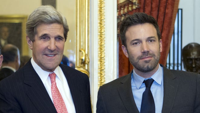 Sen. Kerry D-Mass and Ben Affleck during a meeting to discus the crisis in Congo on Dec. 19.