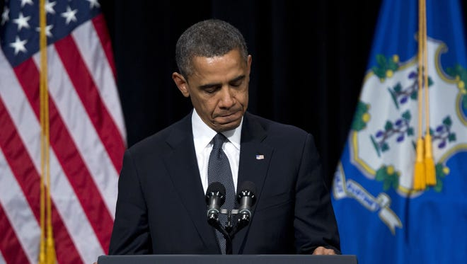 President Obama speaks at an interfaith vigil for the victims of the Sandy Hook Elementary School shooting in Newtown, Conn., earlier this month.