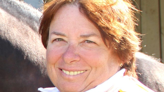 Linda Toscano is the first female to win harness racing's trainer of the year award after winning the Hambletonian. Her horse, Chapter Seven, also was named horse of the year.