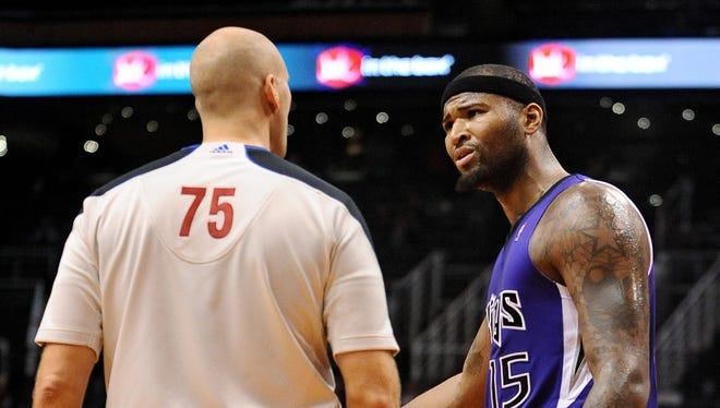 Sacramento Kings center DeMarcus Cousins (15) won't play against Portland.