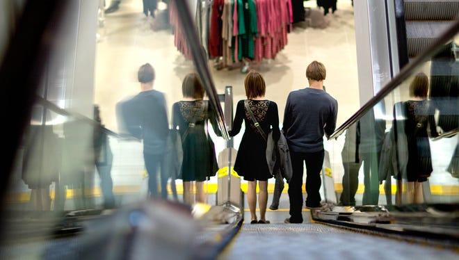 Inside an H& M store in Atlanta.