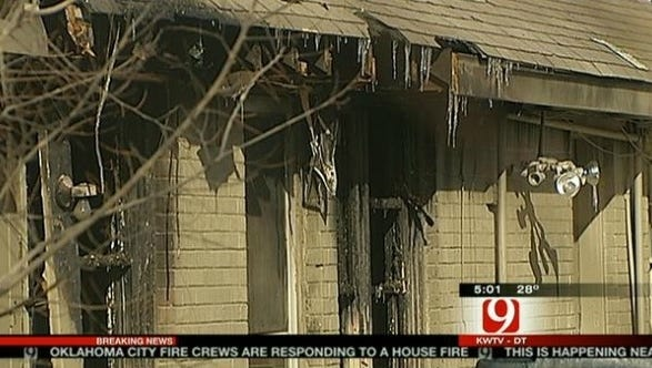 A space heater too close to flammable material is blamed for a house fire early Wednesday in Oklahoma City that left a mother and her four children dead.