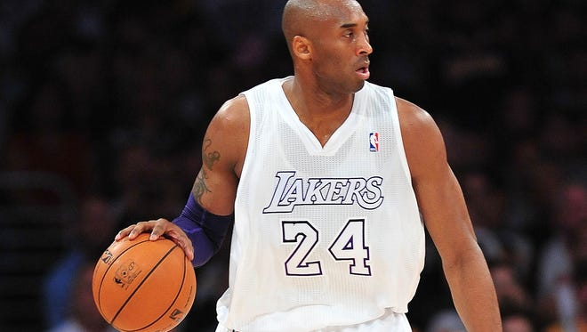 Los Angeles Lakers shooting guard Kobe Bryant leads in NBA All Star voting.
