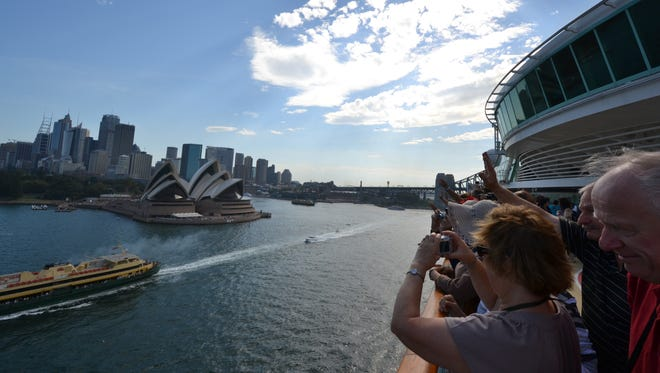 A highlight of cruises out of Sydney is a sail-away past the city's Opera House and downtown skyline.