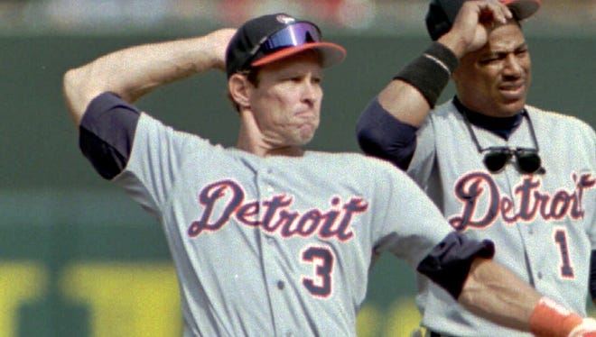 Tigers shortstop Alan Trammell, left, formed a long-time double-play partnership with second baseman Lou Whitaker. The two of them played a record 1,918 games together from 1977-95.