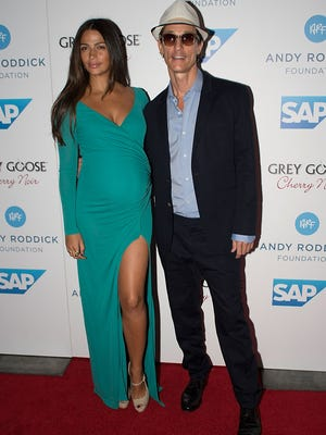 Matthew McConaughey and wife Camila arrive at the 7th Annual Andy Roddick Foundation Gala at W Hotel Austin on Sept. 21.