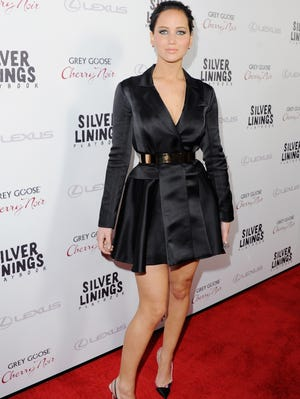 Jennifer Lawrence arrives at the Los Angeles Premiere 'Silver Linings Playbook' at the Academy of Motion Picture Arts and Sciences on Nov. 9 in Beverly Hills.