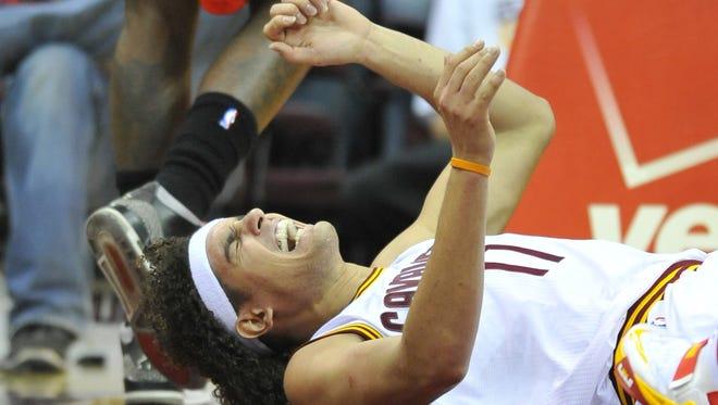 Cavaliers center Anderson Varejao injured his knee Dec. 18 vs. the Raptors.