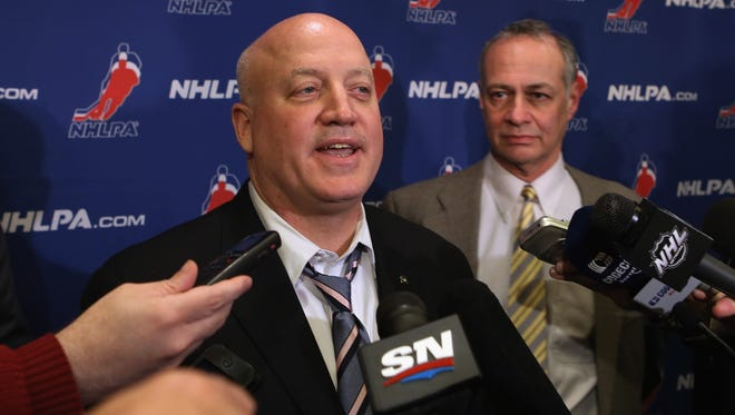 We saw Bill Daly and Steve Fehr on the same stage together three weeks ago. Let's hope that Gary Bettman and Donald Fehr will be up there together soon to announce a labor agreement.