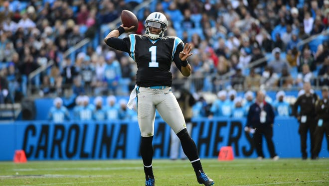 Panthers quarterback Cam Newton has thrown for 3,621 yards on the season with 19 TDs and 11 interceptions.