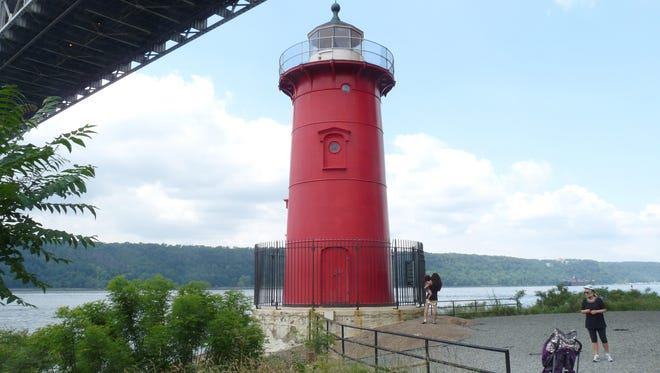 A maze of park walks lead to one of the city's most beloved landmarks, the Little Red Lighthouse.