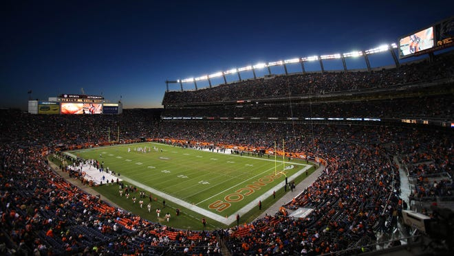 A general view of Sports Authority Field at Mile High during the game between the Denver Broncos and the Cleveland Browns.