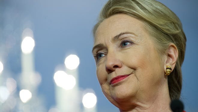Secretary of State Hillary Clinton remained in a New York hospital Monday. She was treated with anticoagulant medication after a blood clot was discovered.