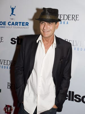 Charlie Sheen attends the Joe Carter Classic After-Party in Toronto on Aug. 15.