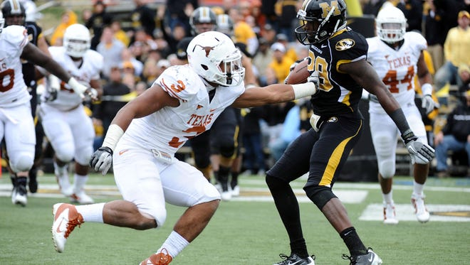 An attorney for Texas linebacker Jordan Hicks (3) said Monday that no sexual assault occurred in an encounter that involved his client early Friday morning.