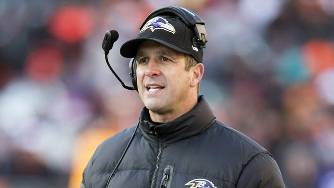 John Harbaugh's Ravens have reached the playoffs in all five of his seasons.