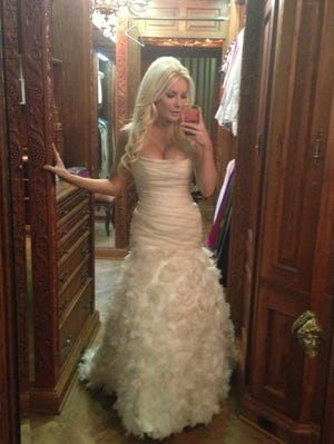 Crystal Harris shares a shot of her New Year's Eve wedding dress.