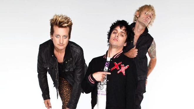 From left, Tré Cool, Billie Joe Armstrong, Mike Dirnt of Green Day.