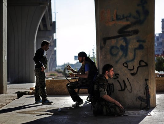 Free Syria Army soldiers