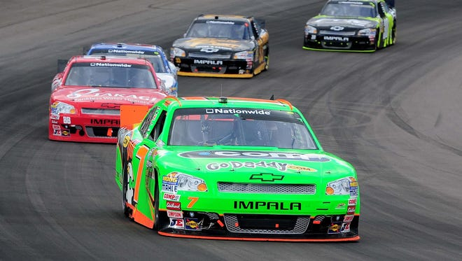 Danica Patrick drove for JR Motorsports during the 2012 Nationwide season, finishing 10th in points.