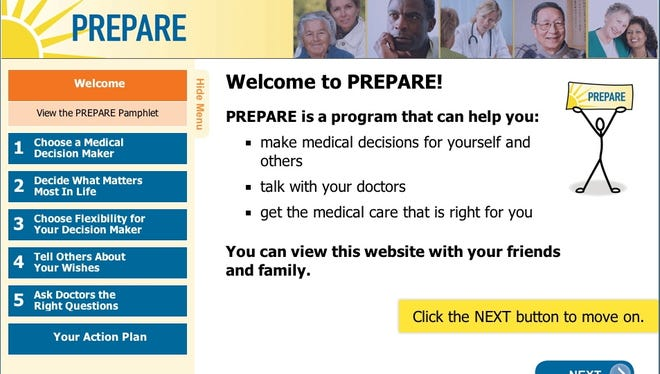Prepare, a new website from the University of California-San Francisco, can help families discuss end-of-life care.