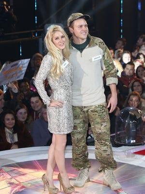 Heidi Montag and Spencer Pratt enter the Celebrity Big Brother House at Elstree Studios on Thursday in Borehamwood, England.