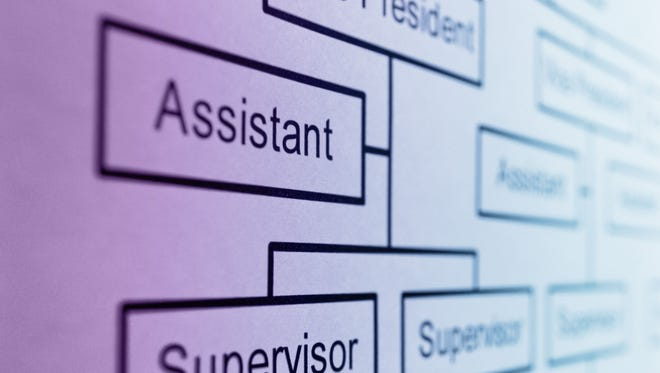 Chances are good that somewhere in this organizational chart a new boss is in your future.