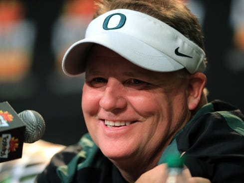 Chip Kelly on Oregon Coach Chip Kelly Participates In A Postgame Press Conference