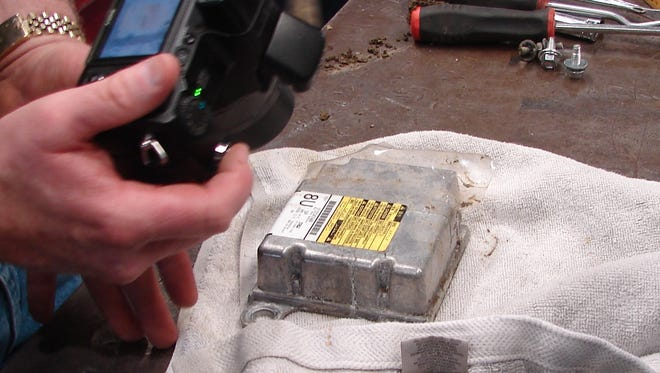 An event data recorder taken from a 2009 car crash in Euless, Texas.