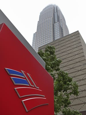 Bank of America's corporate headquarters in  Charlotte.