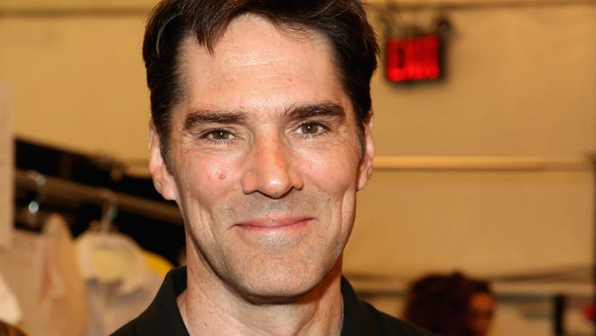 Thomas Gibson, shown in September, is out on bail.