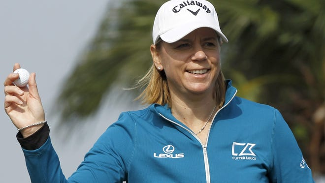 Annika Sorenstam during the Swinging Skirts 2012 World Ladies Masters on Dec. 6.