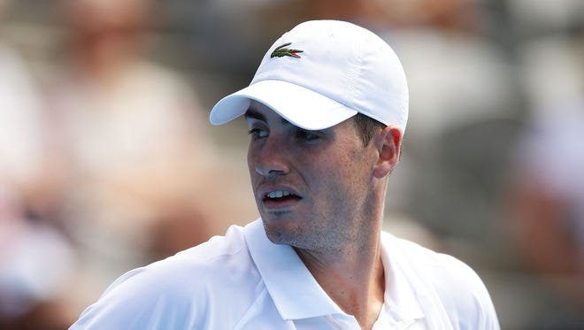 John Isner is struggling with a knee injury.