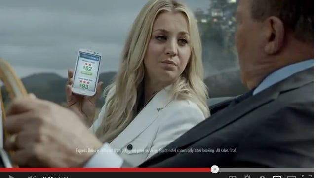 Kaley Cuoco of 'The Big Bang Theory' joins William Shatner to pitch Priceline in this ad.