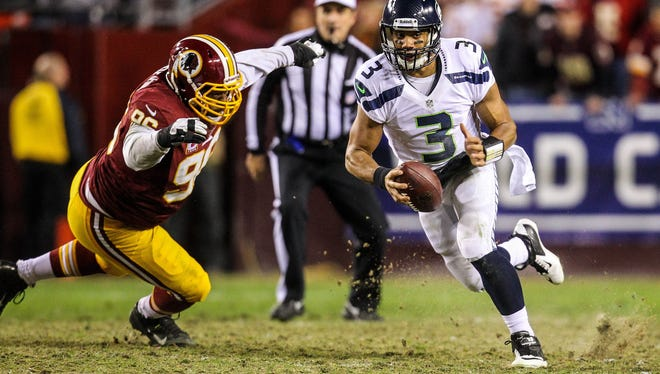 The turf at FedExField for Sunday's Seahawks-Redskins game did appear rather chrewed up.