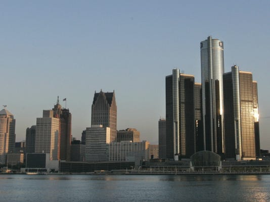 detroit skyline 2006