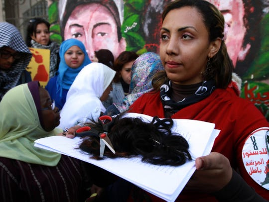 egypt women hair protest
