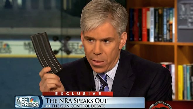 'Meet the Press' host David Gregory displayed 30-round ammunition magazine while interviewing National Rifle Association executive vice president Wayne LaPierre in December, after the Newtown, Conn., school massacre.