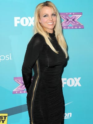Britney Spears at the 'X-Factor' finalists party in Los Angeles in November.