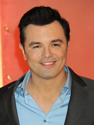 Seth MacFarlane on stage during the 85th Academy Awards nominations announcement on Jan. 10 in Beverly Hills.