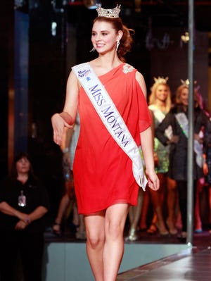 Miss Montana Alexis Wineman is introduced at the 2013 Miss America Pageant  'Meet and Greet' Fashion Show on Jan. 5 in Las Vegas.