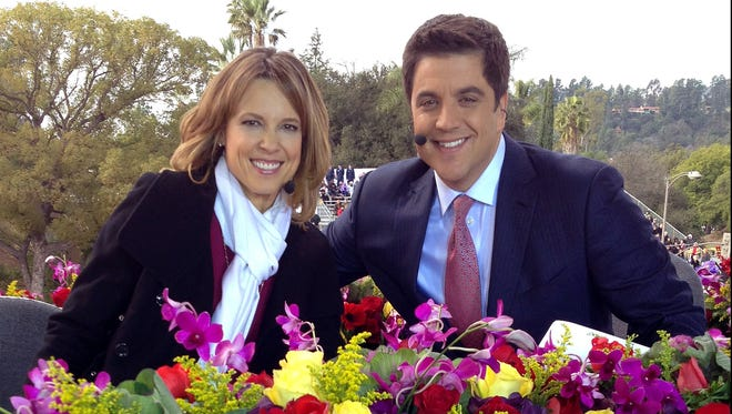 Hannah Storm made her return to TV after a disfiguring fire accident for ABC's coverage of the Rose Bowl parade Jan. 1, with co-host Josh Elliott.