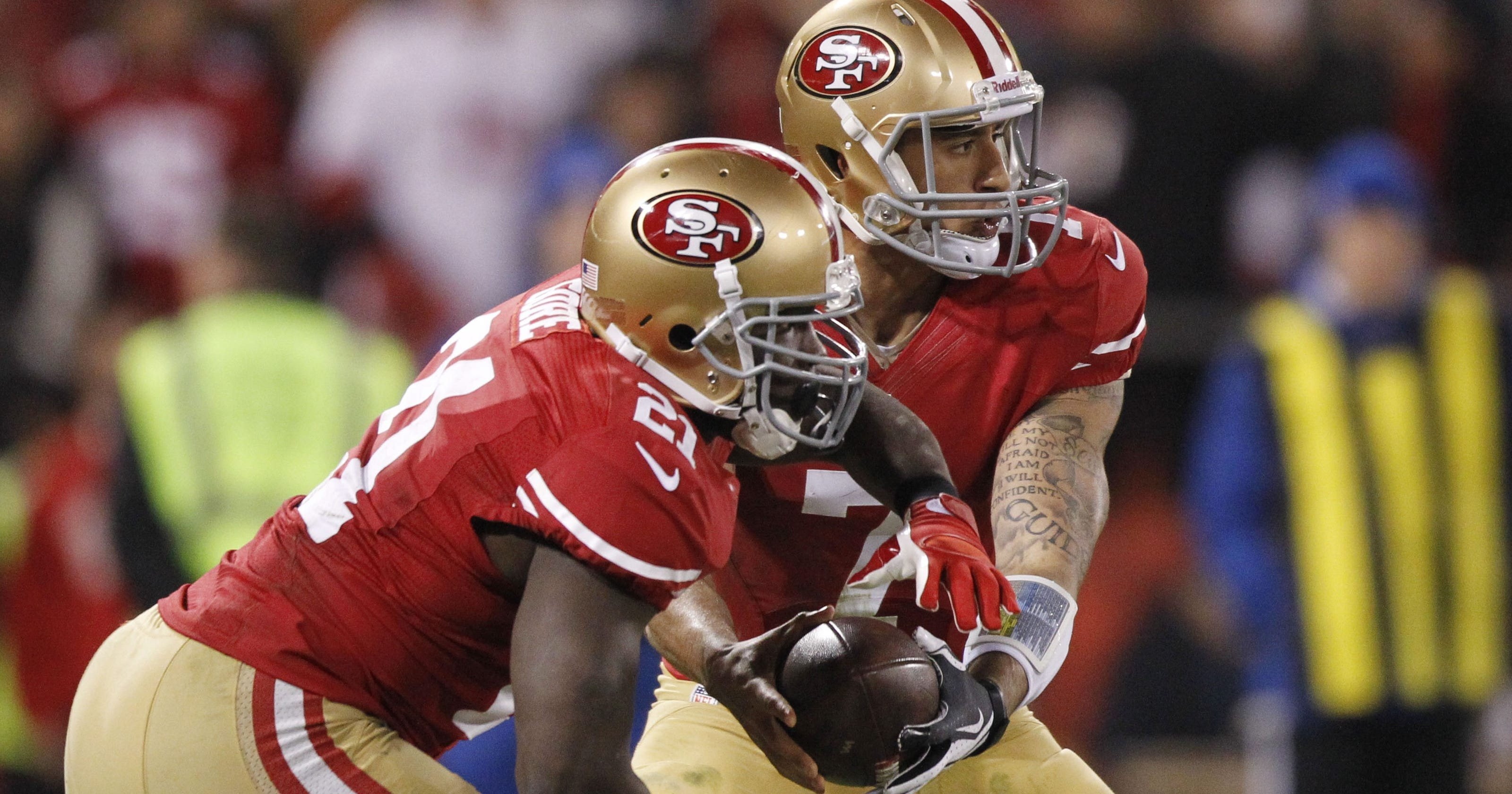 77b29854d Frank Gore provides balance in 49ers  win over Packers