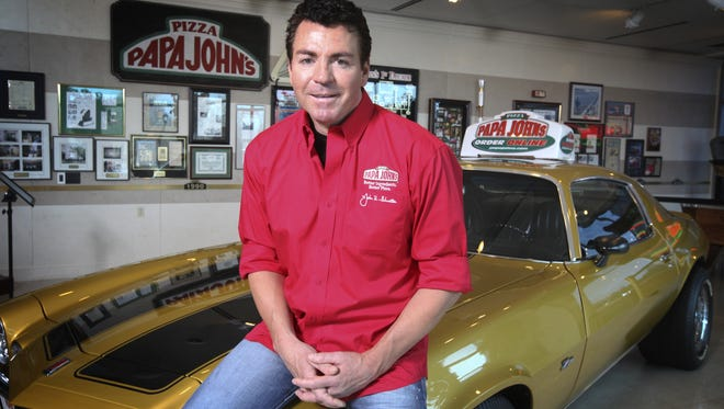 Chief Executive John Schnatter at Papa John's International headquarters, which has a replica of the beloved Camaro he once sold but later bought back.