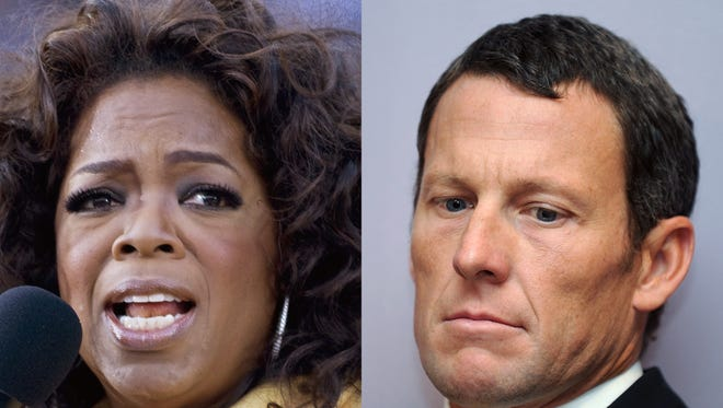 Lance Armstrong taped an interview Monday with Oprah Winfrey in which he apologized for deceiving about his use of performance-enhancing drugs in pursuit of cycling championships.